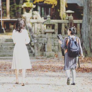 山口の結婚相談所幸せ婚活教室プロフィール写真撮影の様子